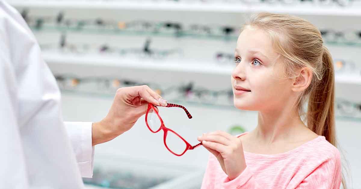 occhiali da vista per i bambini