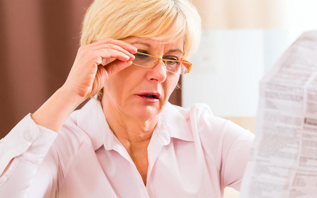 Sintomi e segni della presbiopia
