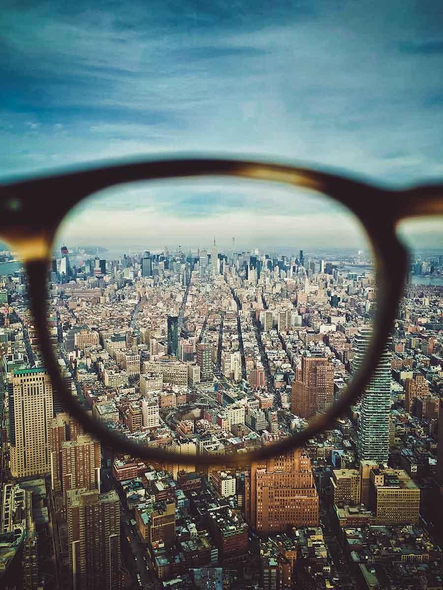 occhiali da vista con lenti progressive